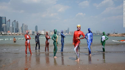 'I thought it's the bikinis that could be banned'- 'Facekini' wearers in China unfazed by Burkini ban in France (photos)