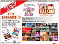 Free Entry to Visit Muzium Telekom Campaign (Enjoy Fun & Exciting Activities Together) 2014