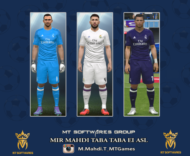 5b117a1af PES 2016 Real Madrid Kit Season 2016-2017 - PATCH PES