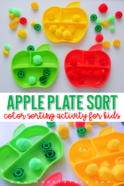 Apple Color Sort with Apple Plates