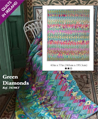 Green Diamond quilt from Quilts in Ireland