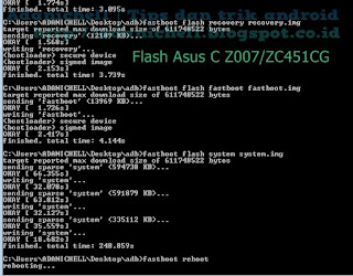 Proses Flash Asus C Z007/ZC451CG