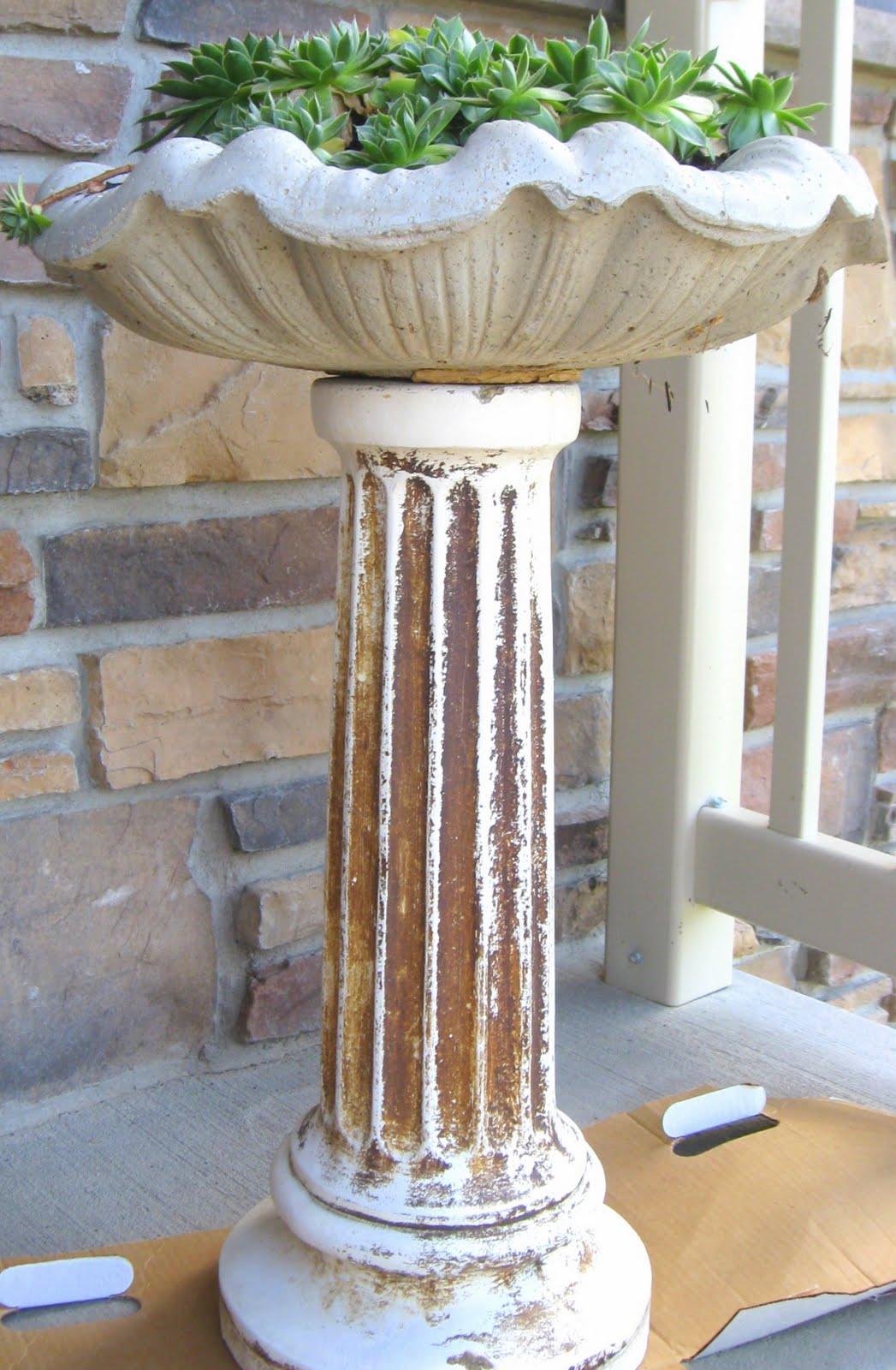 Simply Projects Concrete Column Flower Planter