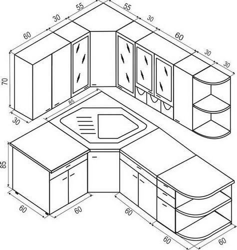 Kitchen Layout Diagrams