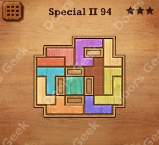 Cheats, Solutions, Walkthrough for Wood Block Puzzle Special II Level 94