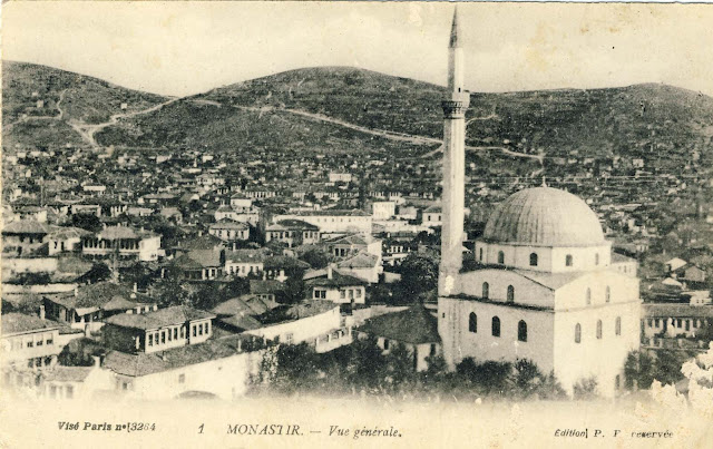 View of Bitola from Yeni Mosque. Publisher - Levy Fils & Cie, Paris.