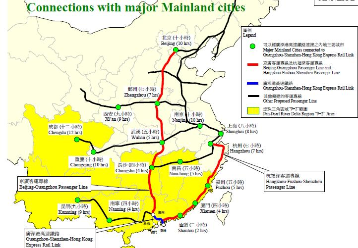 China High Speed Rail Impact On China Aviation And China Versus US - Us passenger train map