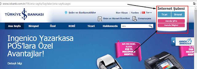 iş bankası internet bankacılık şifre alma