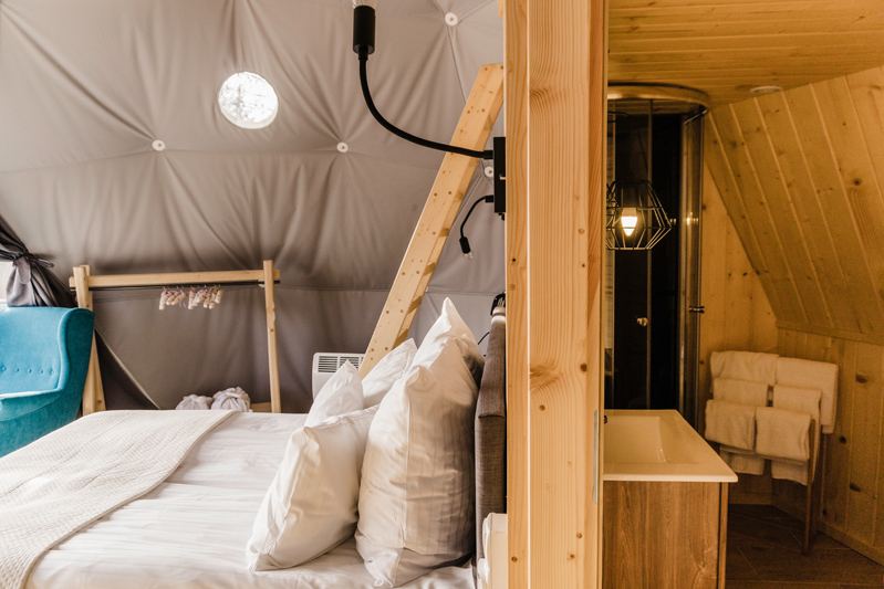 Glamping tents in Poland