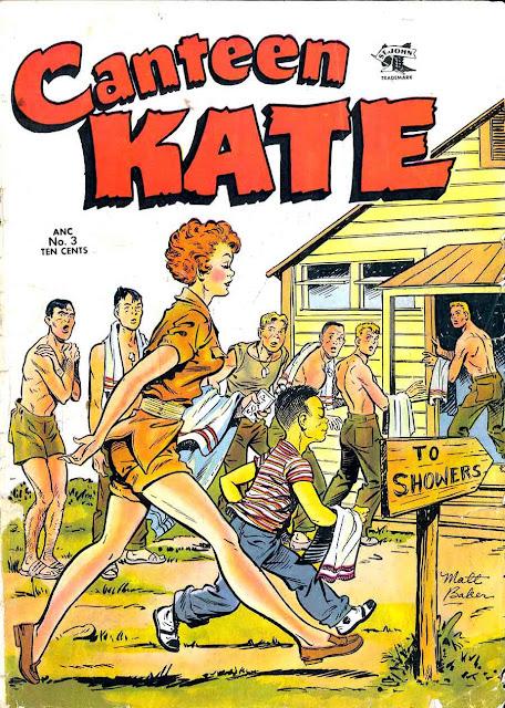 Canteen Kate v1 #3 st john 1950s golden age comic book cover art by Matt Baker
