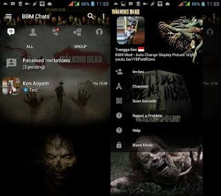 BBM MOD The Walking Dead Terbaru v3.3.1.24 Apk Terbaru 2017