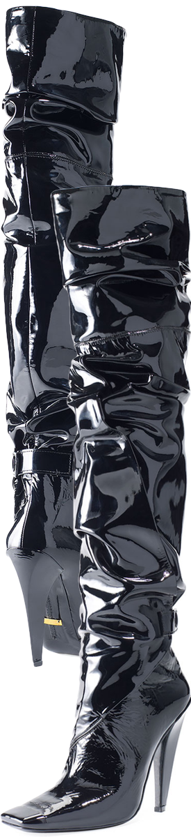 TOM FORD Scrunched Patent 105mm Boot