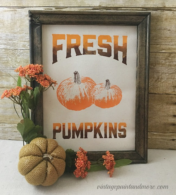 Vintage Paint and more... making Fall decor using an artist canvas and Chalk Couture transfers and chalk paste