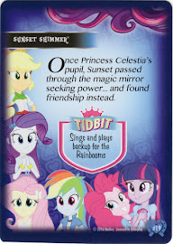My Little Pony Sunset Shimmer Equestrian Friends Trading Card