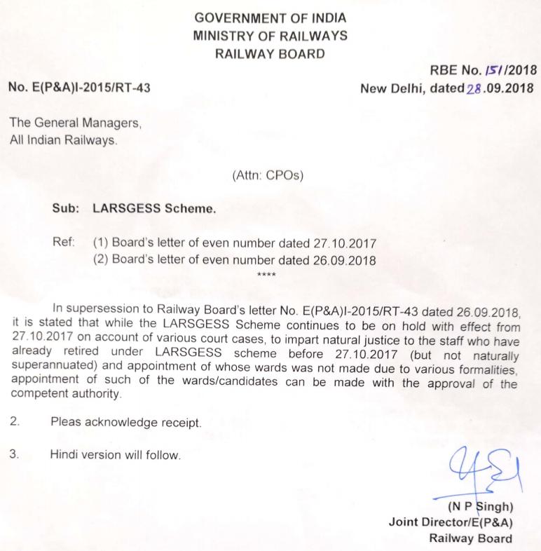 Termination of LARSGESS Scheme