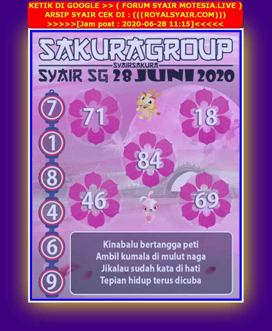 Kode syair Singapore Minggu 28 Juni 2020 138