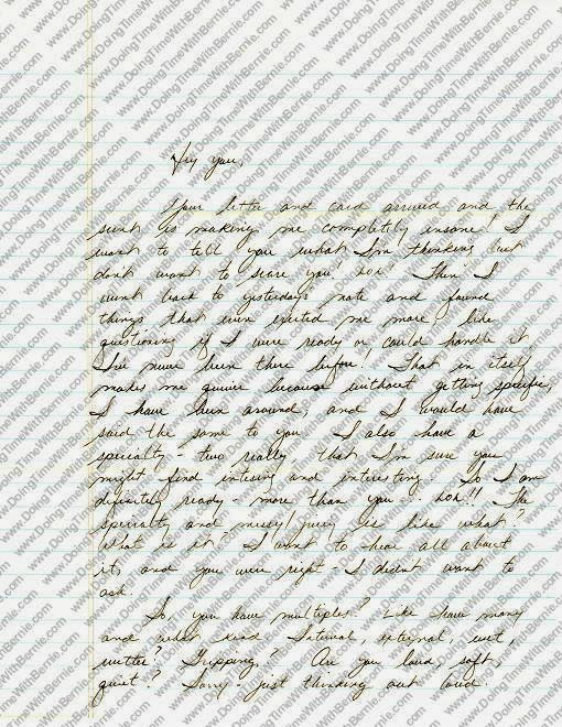 What says Happy Birthday to Felon Bernard Kerik better than one of his Prison Porn Letters!