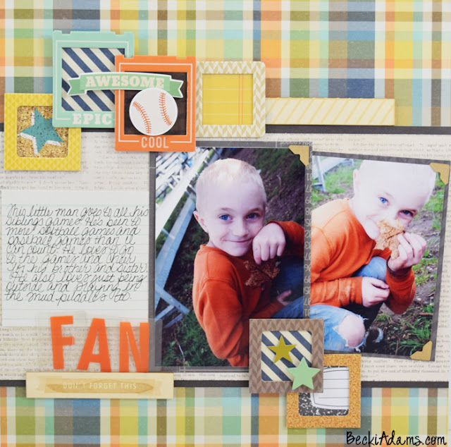 """Fan"" by Becki Adams  #scrapbooking #scrapbookprocessvideo  #beckiadams #papercrafting #simplestories"