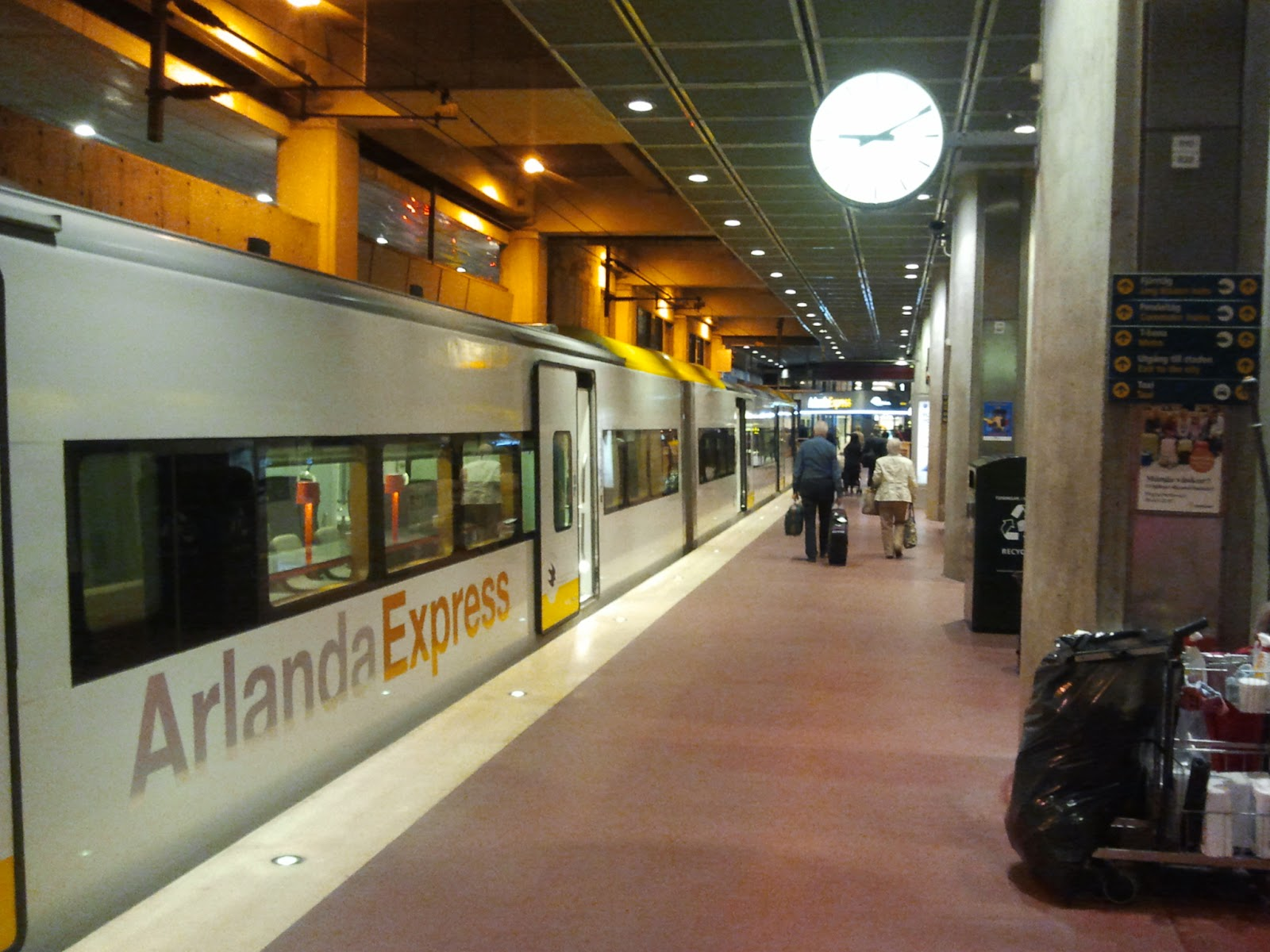 Arlanda Express Train From Airport To Stockholm Hotel Fort Inn