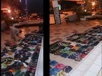 Patut Ditiru, Pemuda Ini Jajar Ribuan Selipar Jamaah Shalat Tarawih