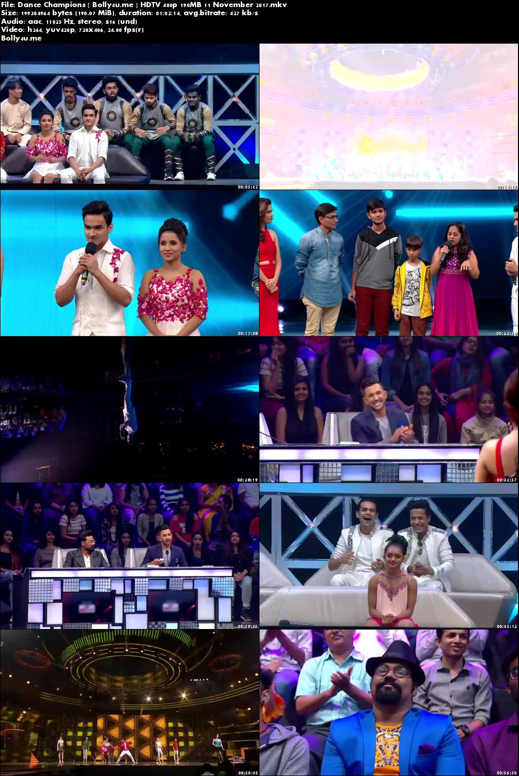 Dance Champions HDTV 480p 200MB 11 November 2017 Download