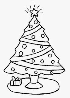 Arbol de Navidad para Colorear, parte 1