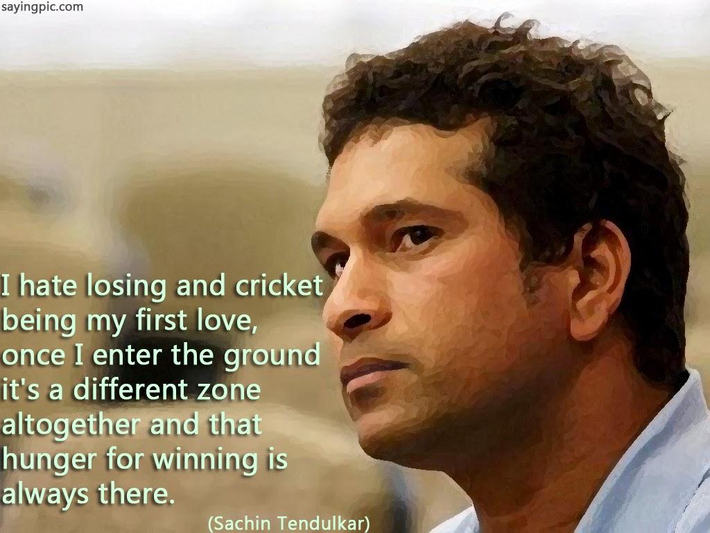 Saying cricket qoutes by sachine tendulakar