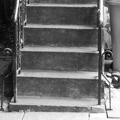 Black and White: outside stairs