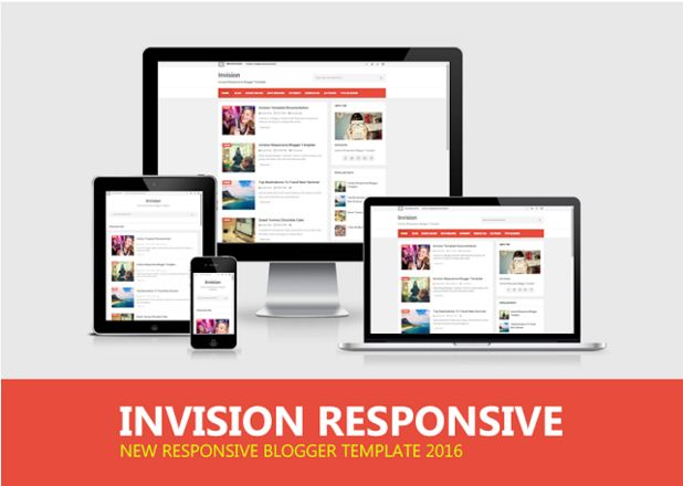 """Invision"" Personal Blog Templates Free + Responsive Design"