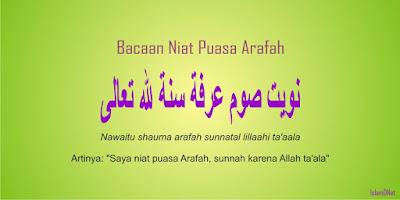 Bulan Dzulhijjah merupakan bulan terakhir dalam kalender Islam atau Hijriyah Bacaan Niat Puasa Arafah 9 Dzulhijjah