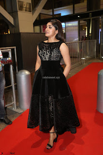 Niveda Thomas Black Sleeveless Cute Dress at 64th Jio Filmfare Awards South 2017 ~  Exclusive 126.JPG