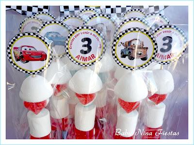 brochetas personalizadas cars