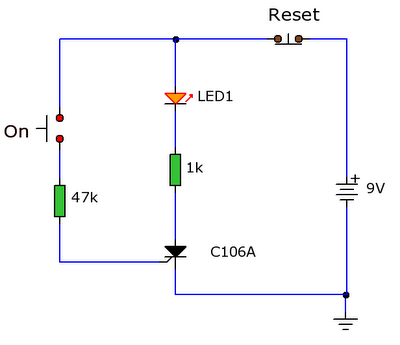 Latch Switch 2 Electro Circuit Diaggram
