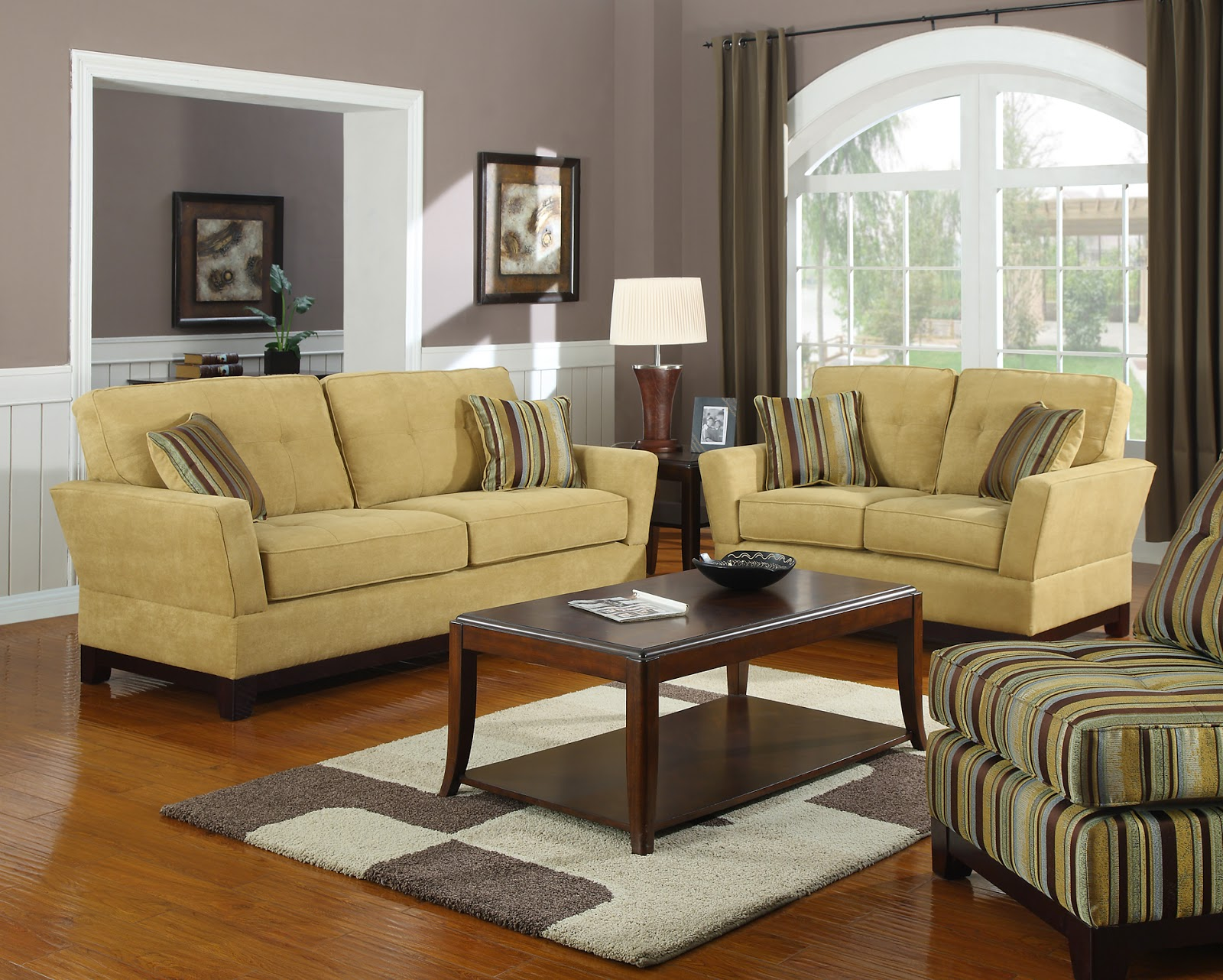 Living Room Ideas Brown Sofa