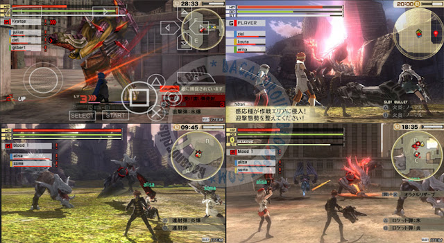 Game God Eater 2 v1.4 ISO CSO English + JPN + DLC terbaru For Emulator PPSSPP Android PC