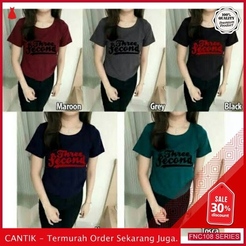 FNC108T43 Three Second Tshirt Spandek Wanita BMGShop To Serba 40 Ribuan