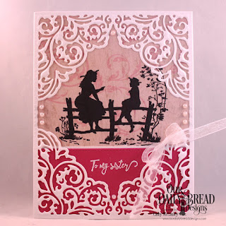 Our Daily Bread Designs Stamp Set: Sister Time, Paper Collection: Beautiful Blooms, Custom Dies: Pierced Rectangles, Lacey Corners
