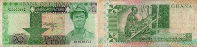 Ghana: Billete de 20 cedis de 1979
