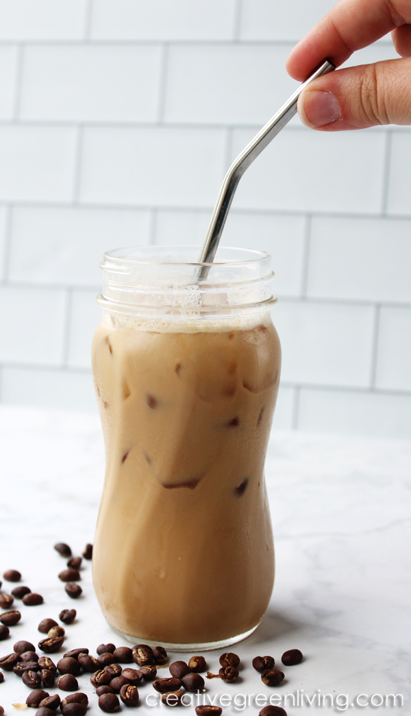 Learn how to make the perfect keto iced latte that will rival what you can buy at Starbucks for less carbs and even less money!