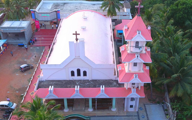Helicam view of Devicode Church