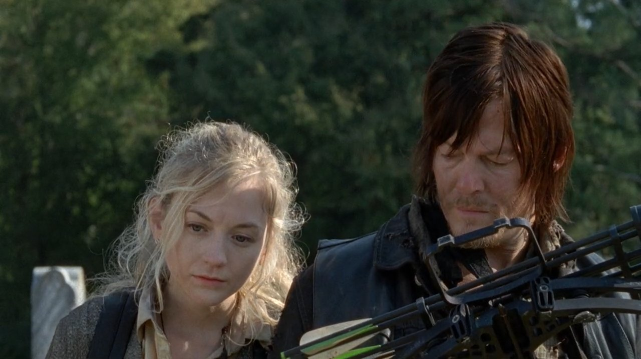 Beth y Daryl, en uno de los episodios que compartieron durante la cuarta temporada de The Walking Dea