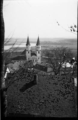 Kloster Gars am Inn - 1920/1940 - vom Hang über dem Kloster aus fotografiert