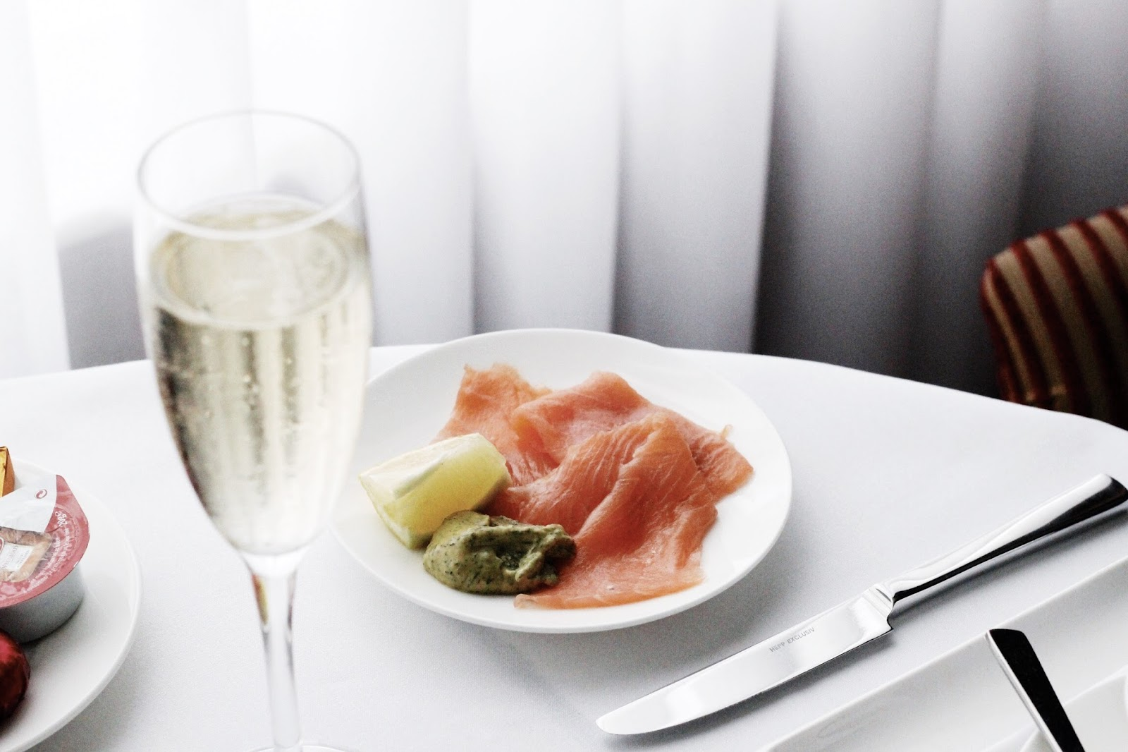 Smoked Salmon and Champagne Room Service Breakfast