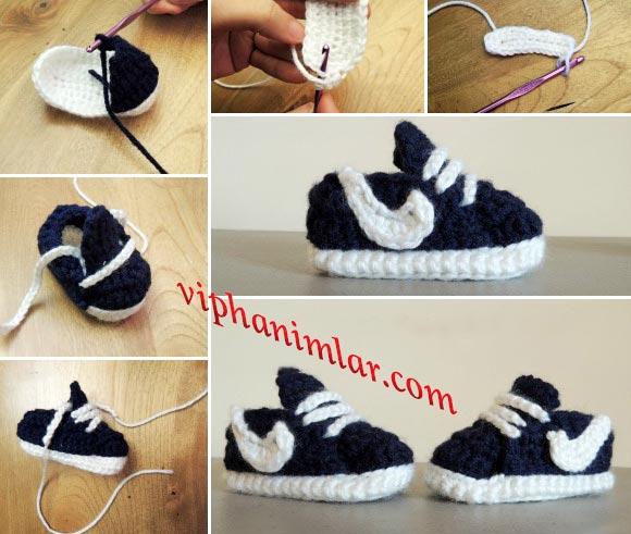 Nike ayakkabı modelli erkek bebek patiği