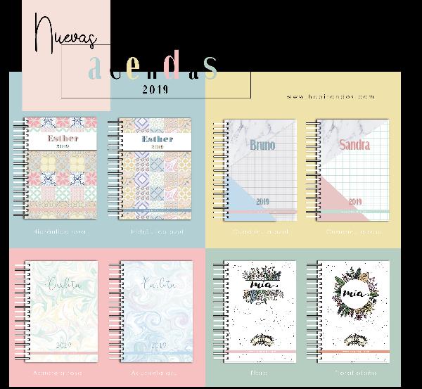 Nuevas agendas personalizadas 2019 by Habitan2 | Diseño y decoración de papelería y eventos