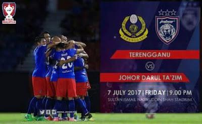 Live Streaming Terengganu vs JDT FC Piala Malaysia 7 Julai 2017