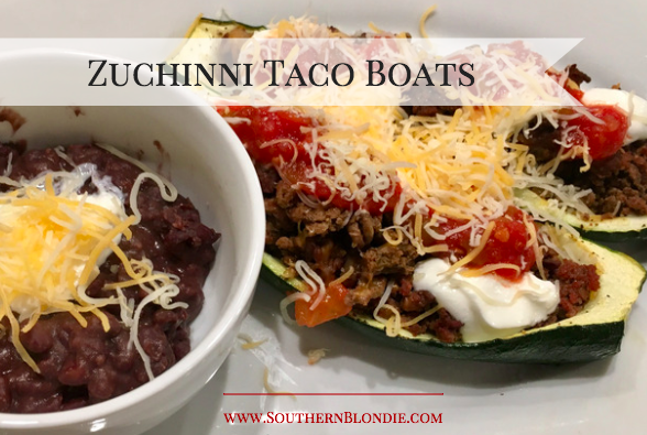 zuchinni taco boats recipe