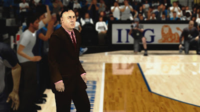 NBA 2K13 Coaches Cyber Face Mods