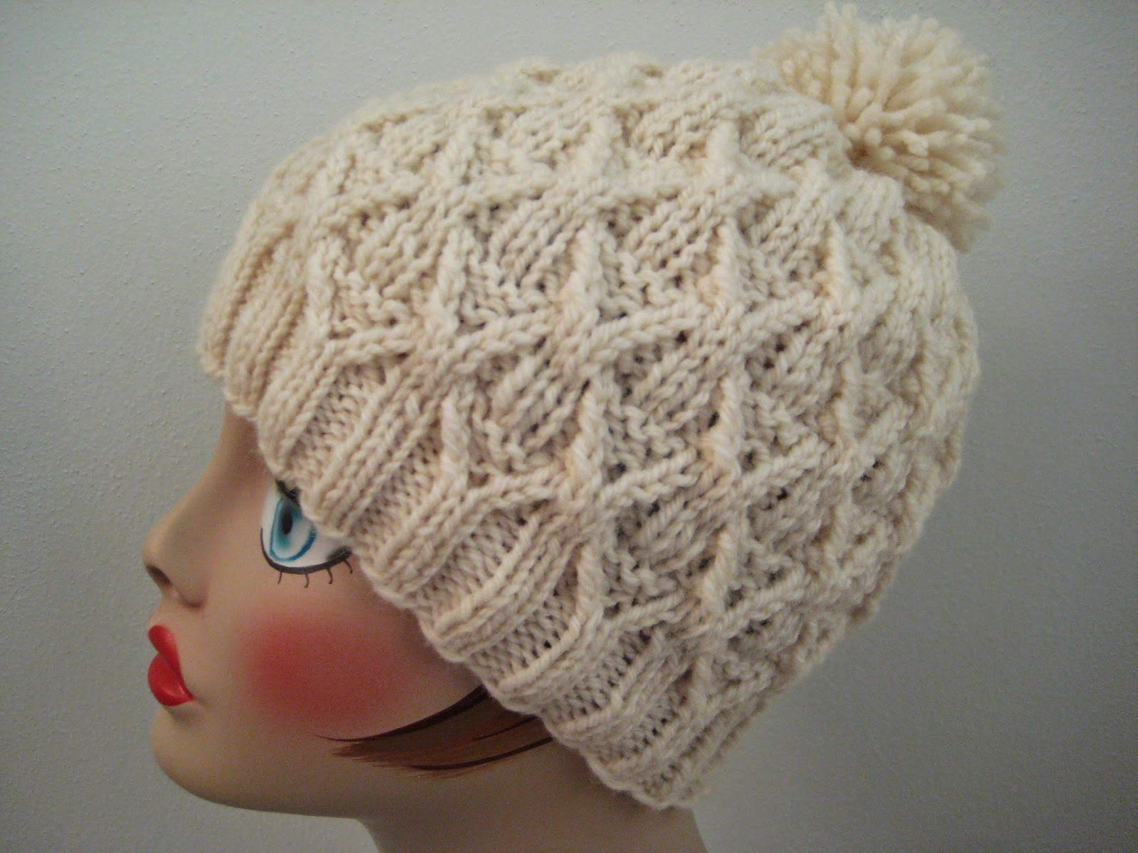 Free Knitting Patterns For Hats In The Round : Balls to the Walls Knits: Wickerwork Hat
