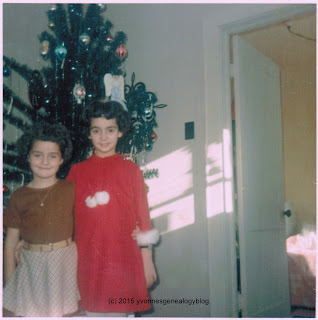 Yvonne and Marianne Belair on Christmas 1968